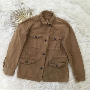 J Crew Brown Brigadier Utility Jacket Pockets for sale